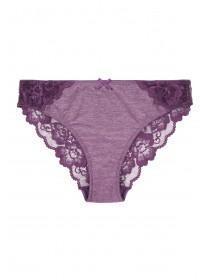 Womens Purple Lace Briefs