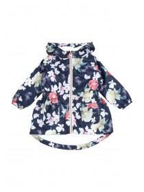Younger Girls Dark Blue Floral Cagoule