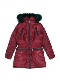 Older Girls Red Parka Jacket