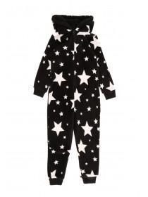 Boys Black Star Onesie