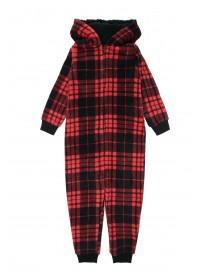 Boys Red Check Onesie