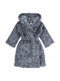 Boys Dark Blue Fluffy Dressing Gown