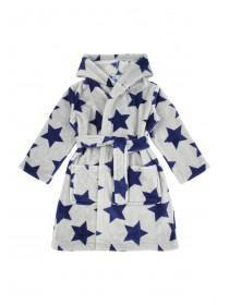 Boys Star Print Fluffy Dressing Gown