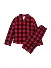 Boys Red Check Pyjama Set