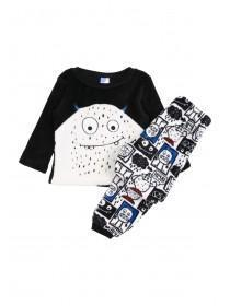 Boys Black Twosie Pyjamas