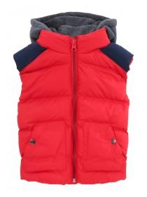 Younger Boys Red Hooded Gilet