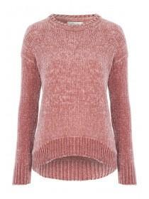 Womens Pale Pink Chenille Jumper