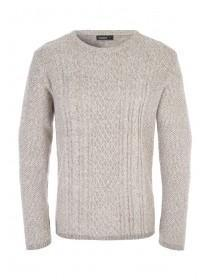 Mens Natural Cable Knit Jumper