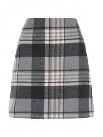 Womens Pale Pink Check Skirt