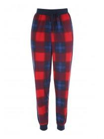 Womens Red Check Fleece Pyjama Bottoms