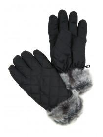 Womens Black Thinsulate Ski Gloves