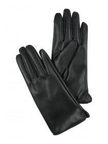 Womens Black PU Gloves