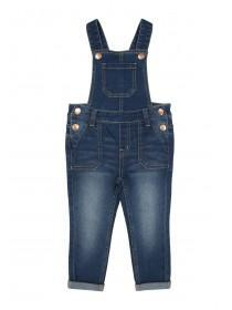 Younger Girls Dark Blue Dungarees