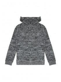 Older Girls Black Brushed Hooded Sweater
