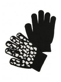 Older Girls Black Gripper Gloves