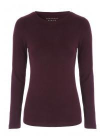 Womens Purple Long Sleeve Top
