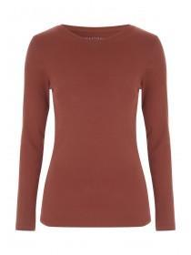 Womens Rust Long Sleeve Top