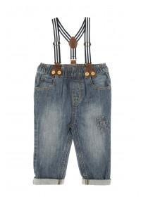 Baby Boys Blue Braces Jeans