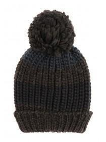 Older Boys Dark Blue Bobble Hat