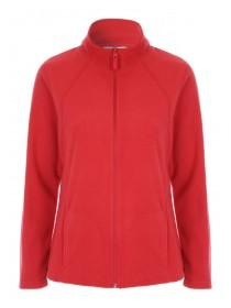 Womens Red Fleece Jacket