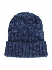 Older Boys Blue Two Tone Beanie Hat
