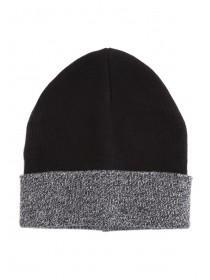 Older Boys Grey Contrast Beanie Hat