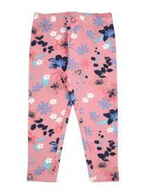 Younger Girls Pink Floral Leggings