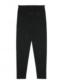 Younger Girls Black Polka Dot Leggings