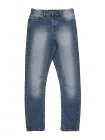 Older Boys Dark Blue Curved Leg Jean