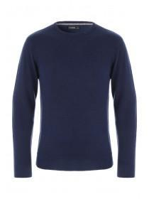 Mens Navy Crew Neck Jumper