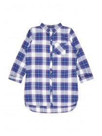 Older Girls Basic Blue Check Shirt