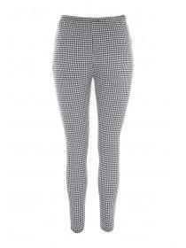 Womens Black Gingham Leggings