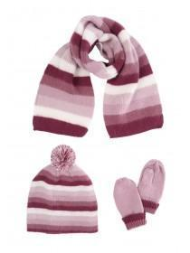 Younger Girls Pink 3pc Knitted Set