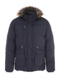 Mens Navy Premium Padded Coat