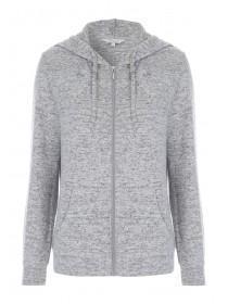 Womens Grey Zip Hoody