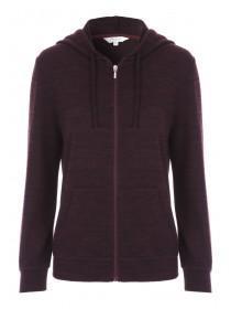 Womens Purple Zip Hoody