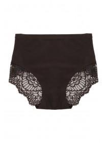Womens Black Lace Control Briefs