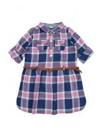 Younger Girls Blue Check Dress