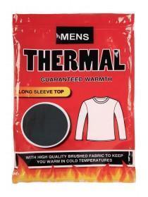 Mens Black Long Sleeve Thermal Top