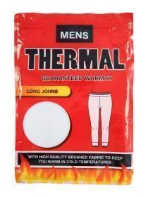 Mens White Thermal Long Johns