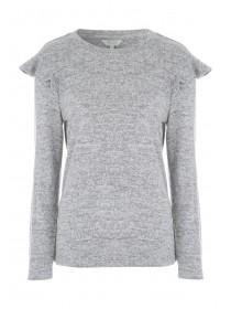 Womens Grey Frill Sweatshirt