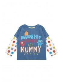 Baby Boys Blue Mummy Cuddles Long Sleeve Top