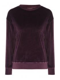 Womens Velour Crew Top
