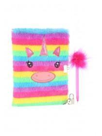 Girls Multicolour Furry Notebook