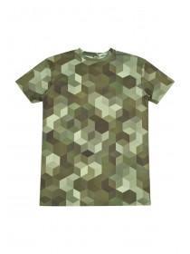 Older Boys Camo Longline T-Shirt