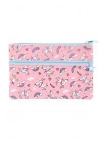 Girls Pink Unicorn Pencil Case
