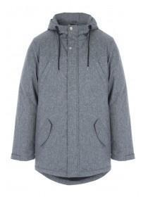 Mens Grey Parka Jacket