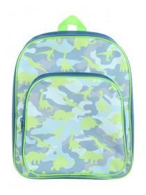 Younger Boys Green Dino Backpack