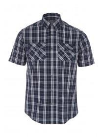 Mens Navy Short Sleeve Shirt