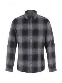 Mens Charcoal Check Shirt